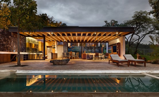 Cascading Mexican House Embedded In A Hilltop Setting - DigsDi