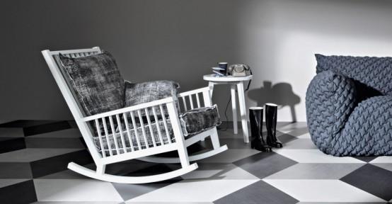 Casual Scandinavian-Inspired Rocking Chair By Gervasoni - DigsDi