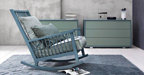 Casual Scandinavian-Inspired Rocking Chair By Gervasoni | DigsDigs .