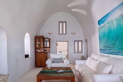 Luxury Life Design: Cave like Villa in Santorini | Small space .