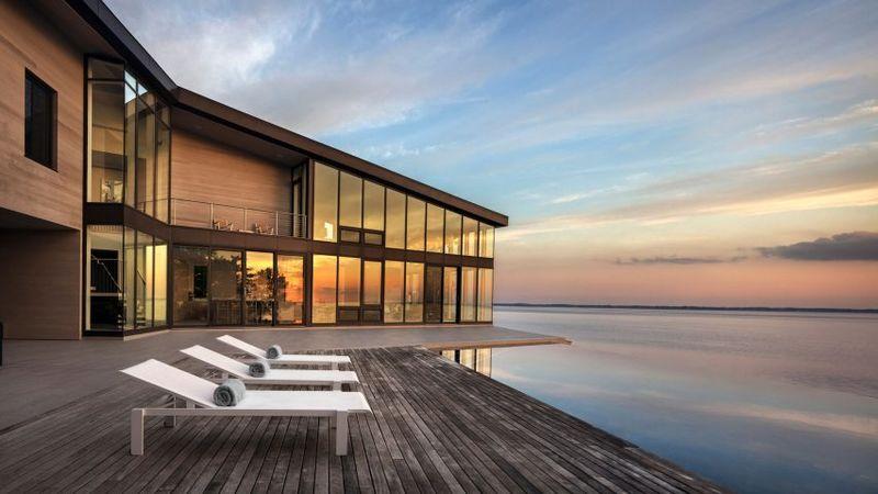 Luxurious Cedar-Clad Houses : cedar-clad hou