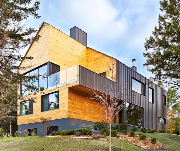 Gorgeous cedar-clad house boasts stunning mountain views in Cana