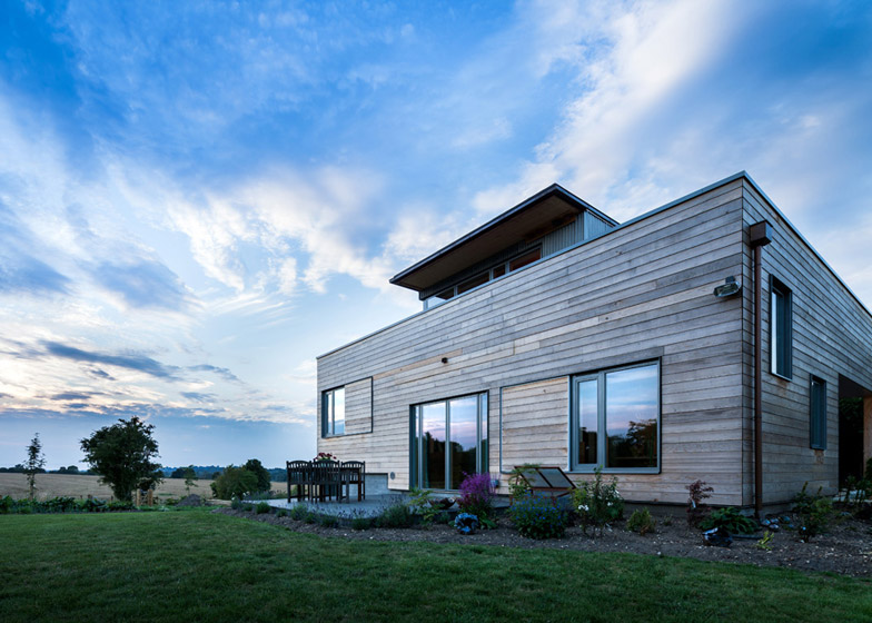 Cedar-clad Stackyard house by Mole Architects is based on rectori