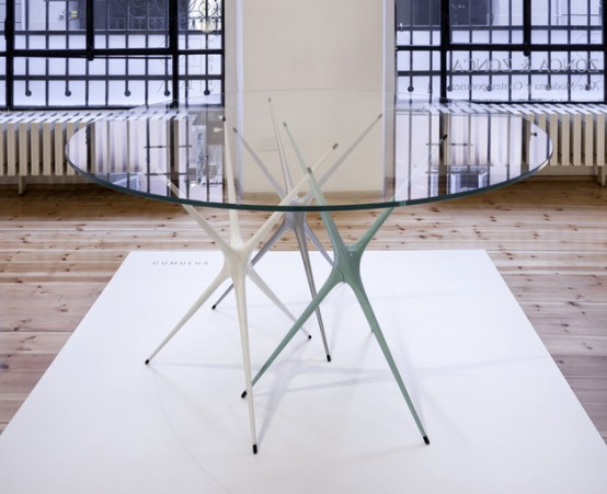 Changeable Supernova Trestle Table With Colorful Legs - DigsDi