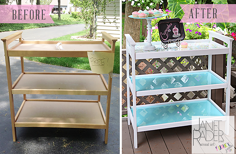 Repurposed changing table. #DIY | Diy furniture projects, Changing .