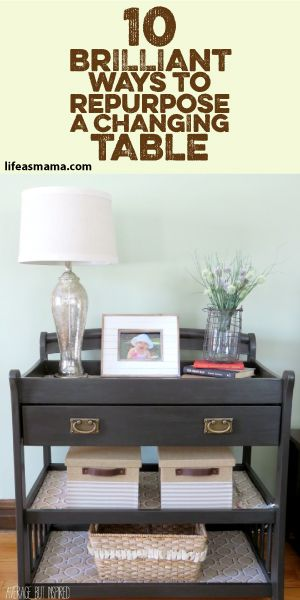 10 Brilliant Ways To Repurpose A Changing Table | Home decor .