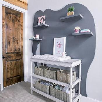 Shelves Over Changing Table Design Ide