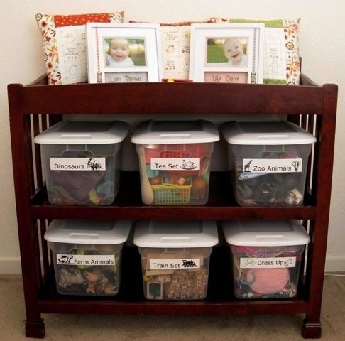 Toy Organization/ good use of a changing table after they are out .