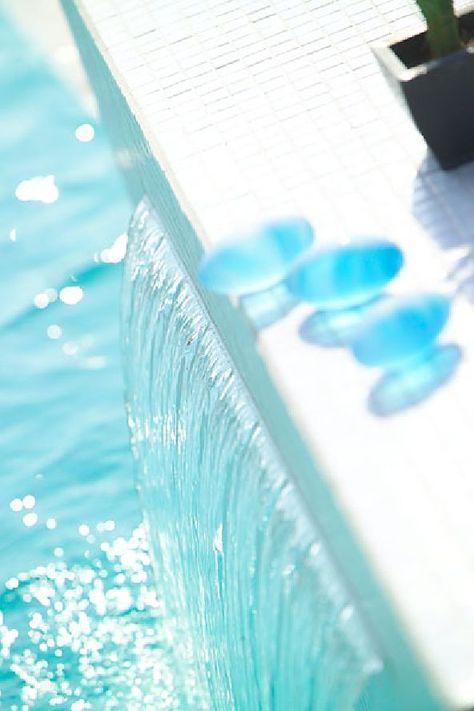 charming swimming pool fountain powerfall by zodiac pooclare .