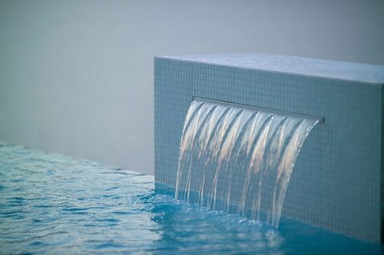 Charming Swimming Pool Fountain - PowerFall By Zodiac Pooclare .