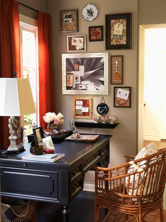 45 Charming Vintage Home Offices - DigsDi