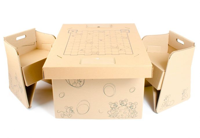 100% Recyclable:Cardboard Makes The Cheapest Pieces of Furniture .