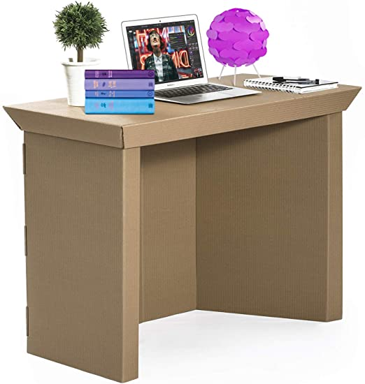 """Amazon.com: Cardboard Computer Desk for Home Office –39"""" Writing ."""