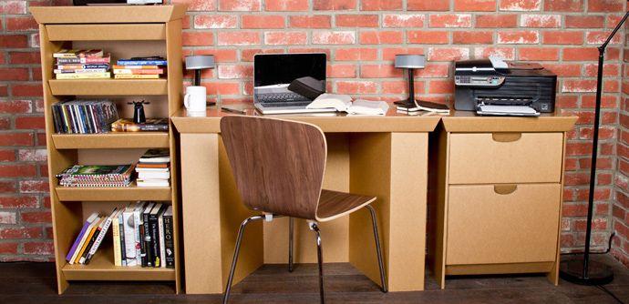 Cardboard Office Desk Design & Other Creative Cardboard Furniture .