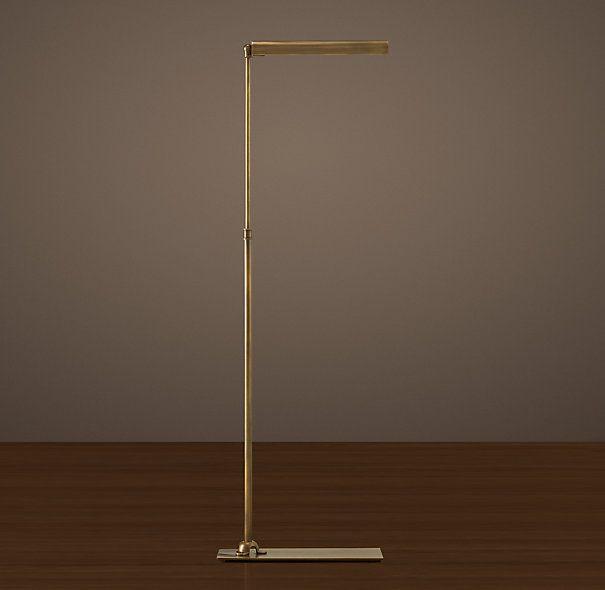 Slimline Floor Lamp Vintage Brass | Reading lamp floor, Task floor .