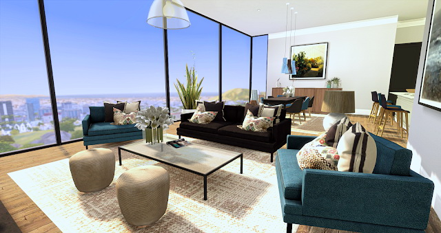 Chic Modern Apartment at Liney Sims » Sims 4 Updat
