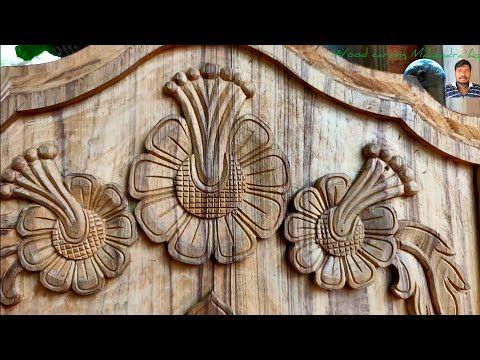 Wood carving work main door design simple design beautiful hand .