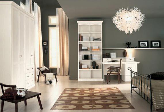 More grey walls! | Girls room design, Grey bedroom design, Girl .