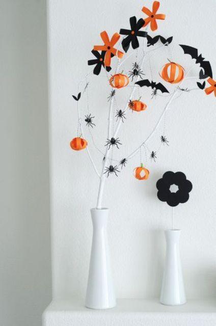 22 Classy Minimal Halloween Décor Ideas - DigsDi