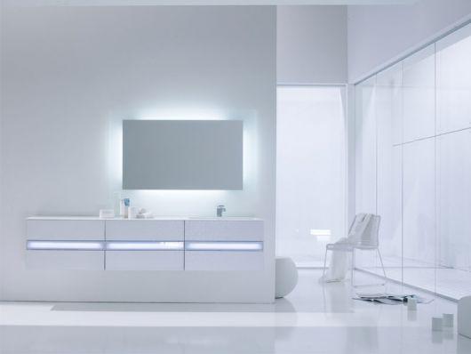 Clean White Minimalist Bathroom by Arlexitalia - DigsDi