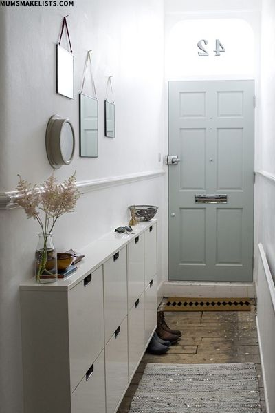 Clever Hallway Storage | Decorating small spaces, Small entryways .