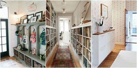 Hallway Storage Ideas - Better Uses for Hallwa