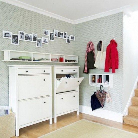75 Clever Hallway Storage Ideas | Hallway storage, Ikea hemnes .
