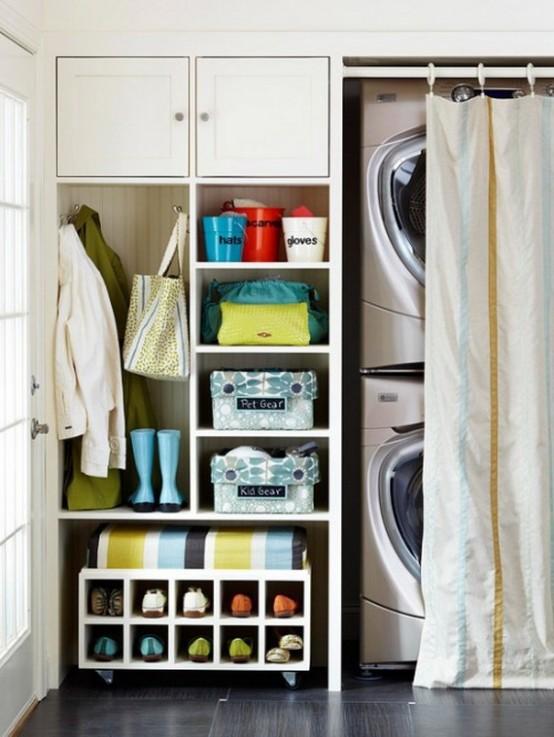 75 Clever Hallway Storage Ideas - DigsDi