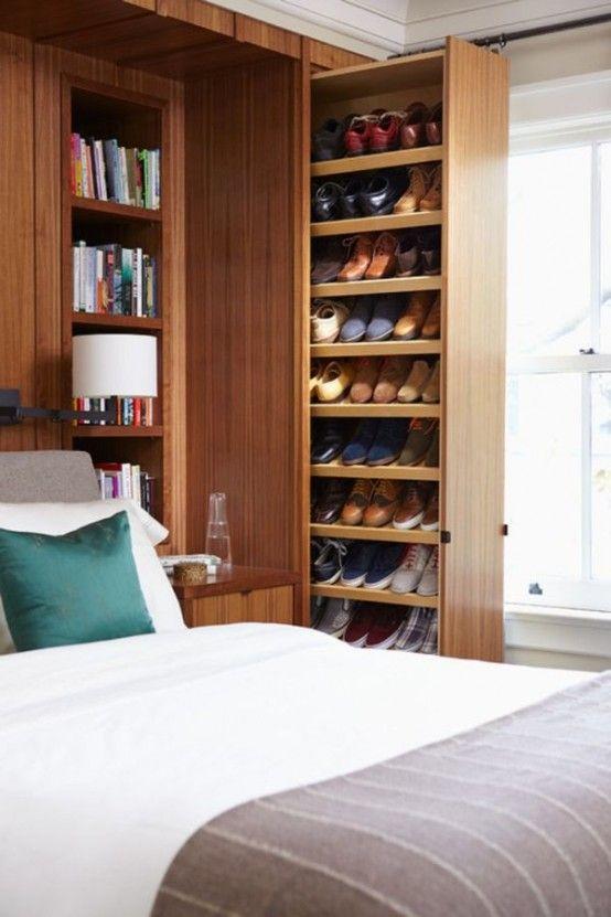 31 Clever Wardrobe Design Ideas   DigsDigs   Closet storage design .