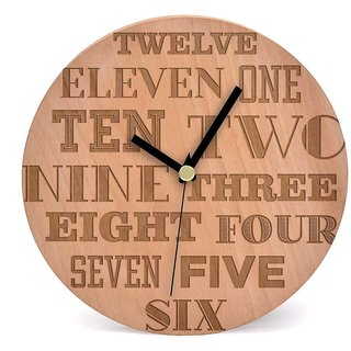 Buy Face Time Wooden Wall Clock by Engrave Online - Get 47% O