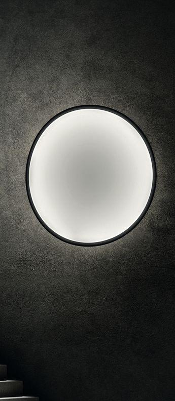 Applique murale collapsible moon noir et blanc led o120cm hcm .