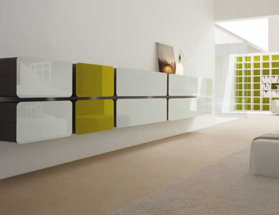 Colored Glass Wall Units and Sideboards – Glass Day Collection .
