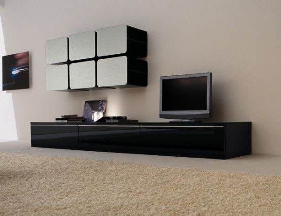 Colored Glass Wall Units and Sideboards - Glass Day Collection .