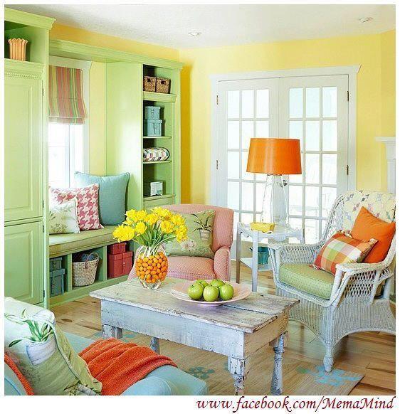 Bright,Shabby Chic living room   Colourful living room, Fresh .
