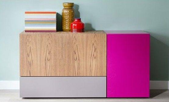 Colorful And Flexible Minimalist LMNTS Sideboa