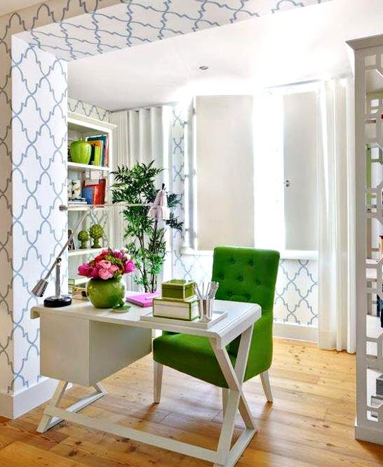 Colorful Home Office Decor Ideas_1 at In Seven Colors – Colorful .