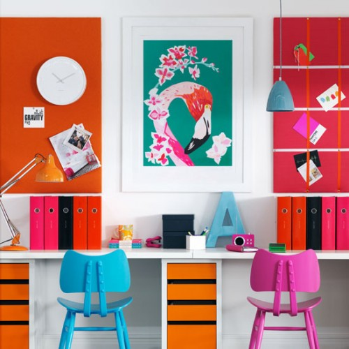 23 Colorful Home Office Design Ideas - DigsDi