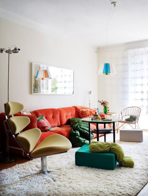 No Great Illusion   Elle decor living room, Colourful living room .