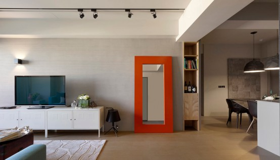 Minimalist Apartment With Pops Of Colors - DigsDi