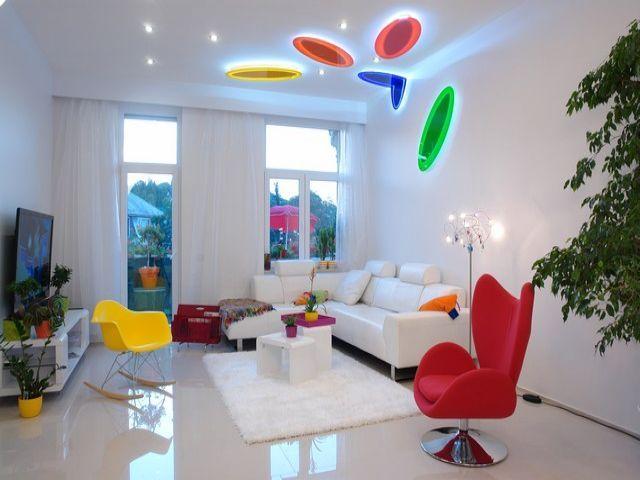 unique design, colorful design, colorful living room, colorful .