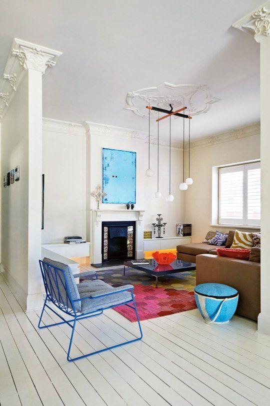 Look We Love: Colorful Minimalism   Minimalist living room, Home .