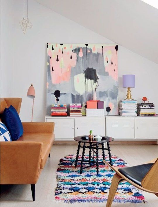 Look We Love: Colorful Minimalism   Colourful living room, Decor .