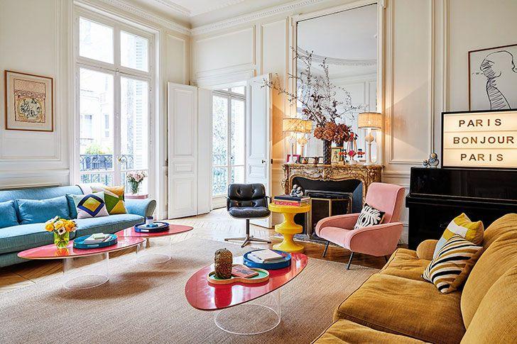 Colorful Paris home of an art director | Interior, Decor interior .