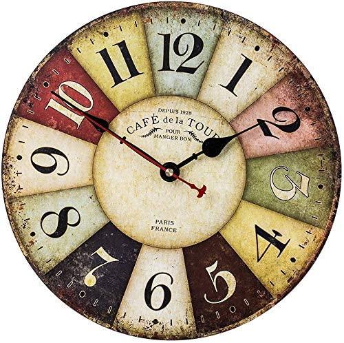 Amazon.com: SkyNature Retro Wall Clock, Home Art Decor Clock with .