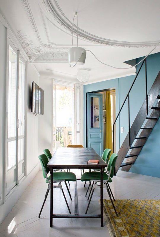A Dreamy Paris Apartment Where Color is King | Wohnen .