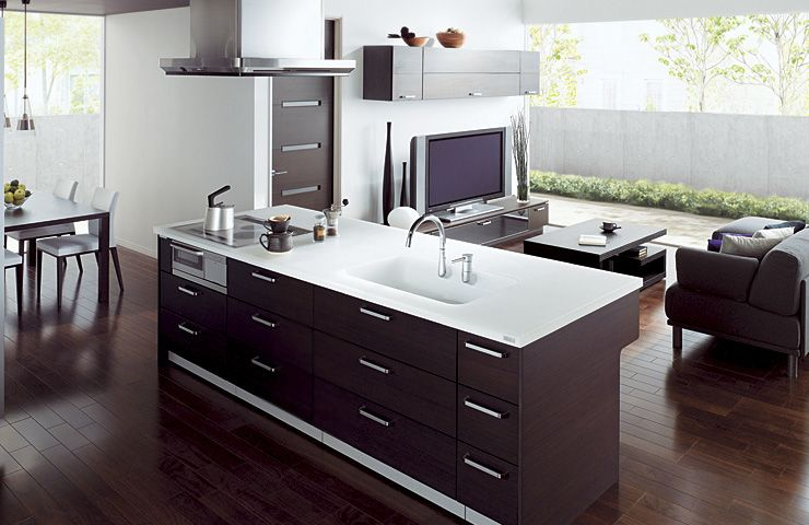 Combine Kitchen and Living Room with Cuisia by TOTO Combined Small .