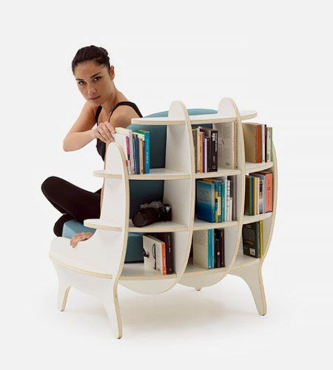 Comfy Chair With Built In Bookshelves For Book Lovers | Cnc .