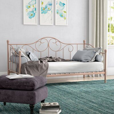 Waleska Twin Daybed Harriet Bee | Daybed with trundle, Twin daybed .