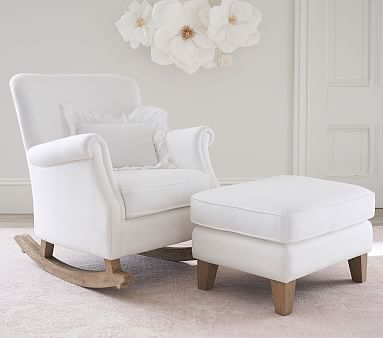 Minna Small Spaces Rocking Chair & Ottoman | Baby rocking .