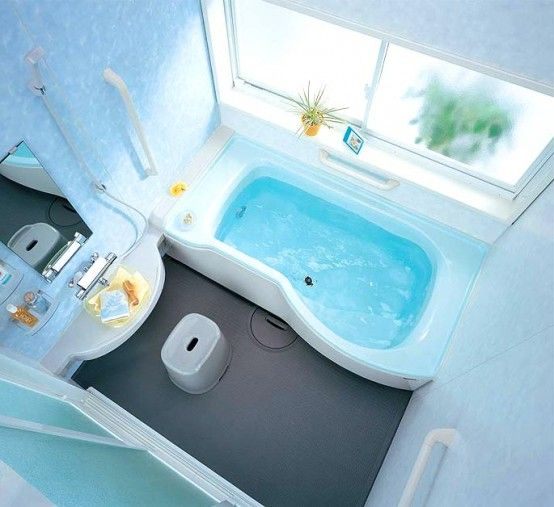 Compact and Small Bathroom Layouts from INAX | Simple bathroom .